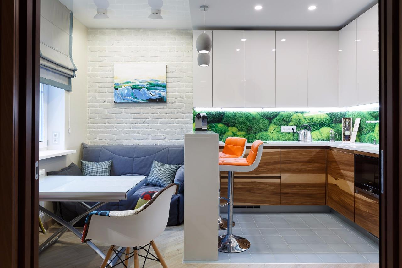 Какие приемы при зонировании кухни самые практичные - 50 фот.